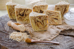 Homemade oats soap Stock Image