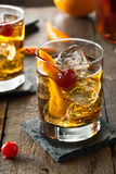 Homemade Old Fashioned Cocktail Stock Photos