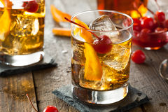 Homemade Old Fashioned Cocktail Royalty Free Stock Photography