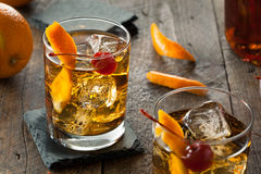 Homemade Old Fashioned Cocktail Royalty Free Stock Photo