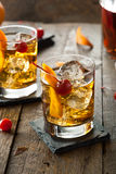 Homemade Old Fashioned Cocktail Royalty Free Stock Image