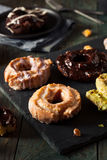Homemade Old Fashioned Donuts Stock Photography