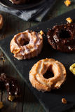 Homemade Old Fashioned Donuts Stock Image