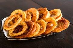 Homemade onion rings Royalty Free Stock Photo