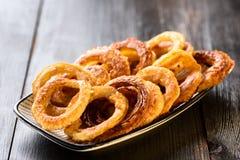 Homemade onion rings Stock Photos