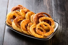 Homemade onion rings Stock Photo