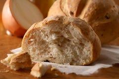 Homemade onion and salami Bread Royalty Free Stock Photos