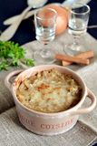 Homemade onion soup Royalty Free Stock Images