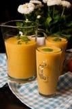 Homemade orange banana juice still life Royalty Free Stock Photography