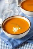 Homemade Orange Carrot Soup Royalty Free Stock Photo