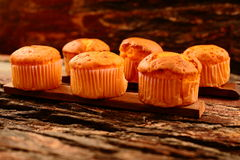 Homemade orange flavored muffin  cakes Royalty Free Stock Photos