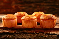 Homemade orange flavored sweet cakes Royalty Free Stock Images
