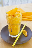 Homemade Orange Granita Stock Images