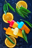 Homemade orange icecream Stock Photo
