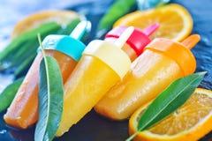 Homemade orange icecream Stock Photography