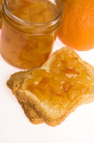 Homemade orange Jam. With fresh fruits Stock Image