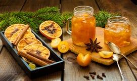 Homemade orange jam royalty free stock image