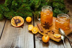 Homemade orange jam stock image