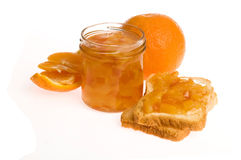 Homemade orange Jam. On the white Stock Photo