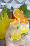 Homemade orange liqueur Royalty Free Stock Photos