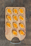 Homemade orange pastry Royalty Free Stock Image