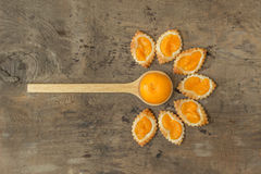 Homemade orange pastry Stock Images