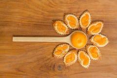 Homemade orange pastry Stock Photography