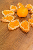 Homemade orange pastry Royalty Free Stock Images