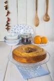 Homemade orange sponge cake Stock Image