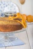 Homemade orange sponge cake Royalty Free Stock Image