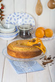 Homemade orange sponge cake Stock Photo