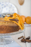 Homemade orange sponge cake Stock Photography