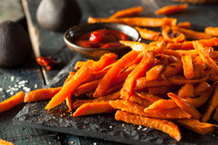 Homemade Orange Sweet Potato Fries Stock Photo