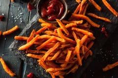 Homemade Orange Sweet Potato Fries Royalty Free Stock Photo