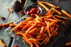 Homemade Orange Sweet Potato Fries Royalty Free Stock Photography