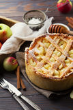 Homemade Organic Apple Pie Stock Image