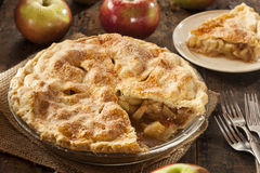 Homemade Organic Apple Pie Dessert Stock Photos