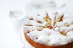 Homemade organic apple pie dessert Stock Photography