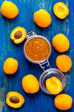 Homemade organic apricots jam Royalty Free Stock Photography