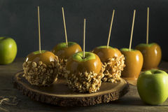 Homemade Organic Candy Taffy Apples Stock Images
