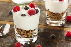 Homemade Organic Fresh Fruit Parfait Stock Photo