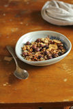 Homemade organic granola with rolled oat flakes Stock Photos