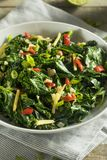Homemade Organic Green Collard Greens. With Pepper and Ginger Royalty Free Stock Photography