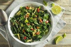 Homemade Organic Green Collard Greens royalty free stock photo