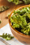 Homemade Organic Green Kale Chips Royalty Free Stock Photography