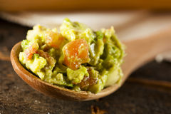 Homemade Organic Guacamole and Tortilla Chips Royalty Free Stock Image