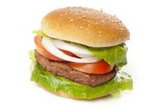 Homemade Organic Hamburger Stock Image
