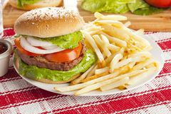 Homemade Organic Hamburger Royalty Free Stock Image