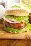 Homemade Organic Hamburger Stock Image