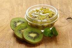 Homemade organic jam of kiwi. Stock Images